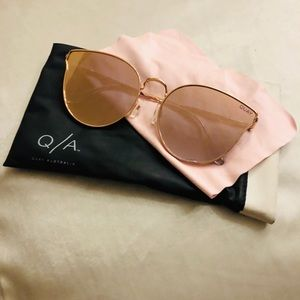 QUAY AUSTRALIA Rose Gold Mirrored Sunglasses